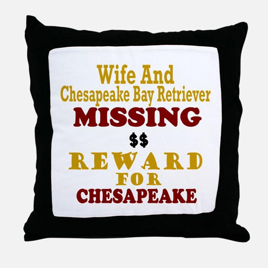 Wife & Chesapeake Bay Retriever Missing Throw Pill