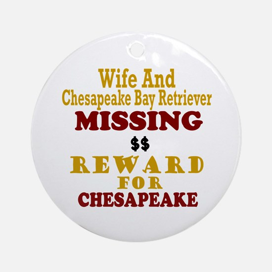Wife & Chesapeake Bay Retriever Missing Ornament (