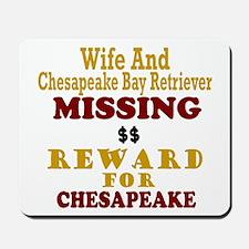 Wife & Chesapeake Bay Retriever Missing Mousepad
