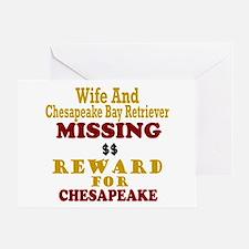 Wife & Chesapeake Bay Retriever Missing Greeting C