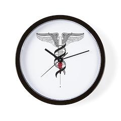 Caduceus Wall Clock