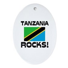 Tanzania Rocks! Oval Ornament