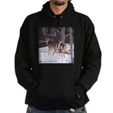 Winter Whitetail Deer Hoodie