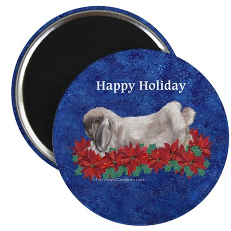 "Fuzzy Lop Holiday 2.25"" Magnet (10 pack)"