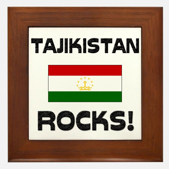 Tajikistan Rocks! Framed Tile