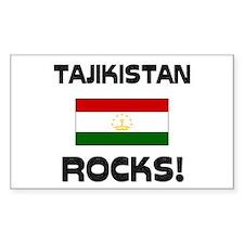 Tajikistan Rocks! Rectangle Decal