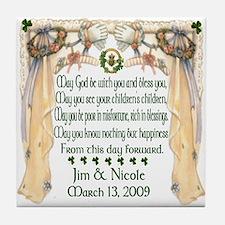 Jim & Nicole's Wedding Tile Coaster