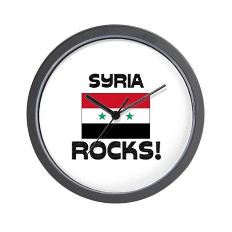 Syria Rocks! Wall Clock