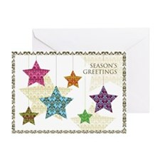 Damask Stars Holiday Greeting Card