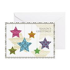 Damask Stars Holiday Cards (Pk of 10)