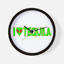 I Love-Alien Tequila Wall Clock