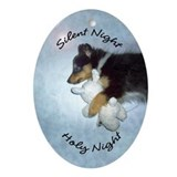Sheltie christmas ornaments Oval Ornaments