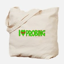 I Love-Alien Probing Tote Bag