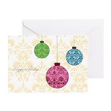 Damask Ornaments Greeting Card