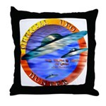 Official UFO Hunter Color Throw Pillow