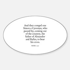 MARK 15:21 Oval Decal
