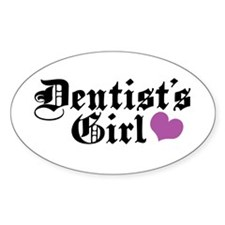 Dentist's Girl Oval Decal