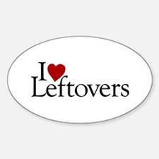 I Love Leftovers Oval Decal