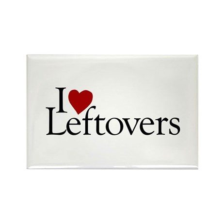 I Love Leftovers Rectangle Magnet (100 pack)