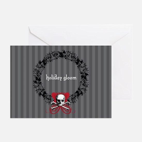 Holiday Gloom Skull Wreath Greeting Cards (Pk of 1