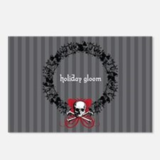 Holiday Gloom Skull Wreath Postcards (Package of 8