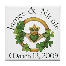 James and Nicole Tile Coaster