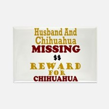 Husband & Chihuahua Missing Rectangle Magnet