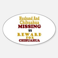 Husband & Chihuahua Missing Oval Decal