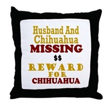 Husband & Chihuahua Missing Throw Pillow