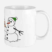 Snowball Fight Christmas Mug