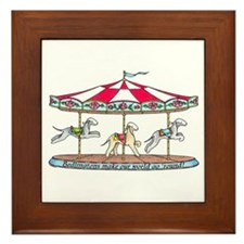 Bedlington Carousel Framed Tile