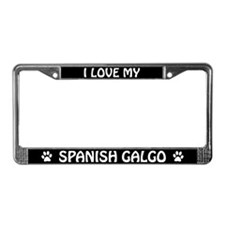 I Love My Spanish Galgo License Plate Frame