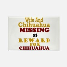 Wife & Chihuahua Missing Rectangle Magnet