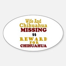 Wife & Chihuahua Missing Oval Decal