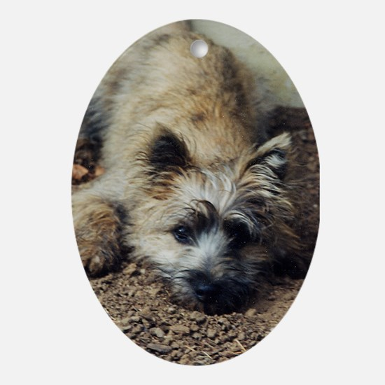 Cairn Terrier Dig It! Oval Ornament
