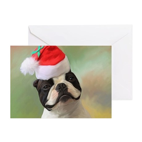 Christmas Boston terrier Greeting Cards (Pk of 10)