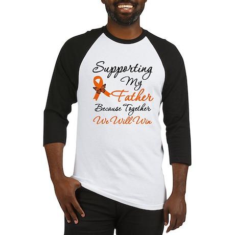 Orange Ribbon Butterfly Baseball Jersey