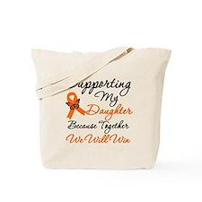 Orange Ribbon Butterfly Tote Bag
