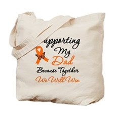 Orange Ribbon Butterfly Tote Bag