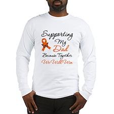 Orange Ribbon Butterfly Long Sleeve T-Shirt