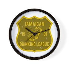 Jamaican Drinking League Wall Clock