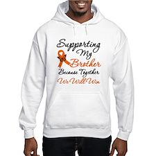 Orange Ribbon Butterfly Hoodie Sweatshirt