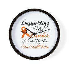 Orange Ribbon Butterfly Wall Clock