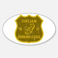Italian Drinking League Oval Decal