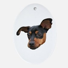 Cute Miniature pinscher Oval Ornament