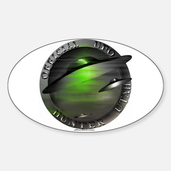 Official UFO Hunter Oval Decal