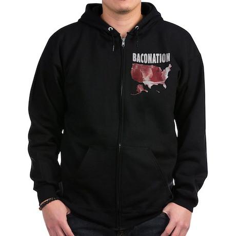 Baconation Zip Hoodie (dark)