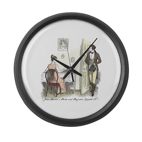 Pride & Prejudice Ch 32 Large Wall Clock