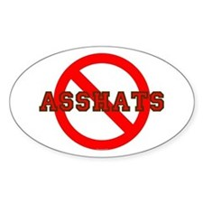 No Asshats Oval Decal