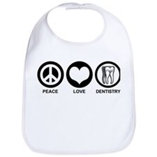 Peace Love Dentistry Bib